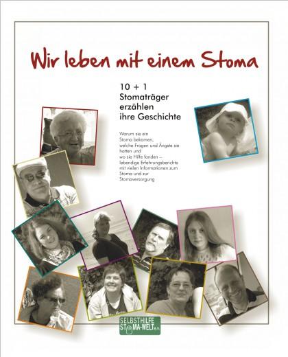 """Cover der Broschüre """"Wir leben mit einem Stoma"""""""