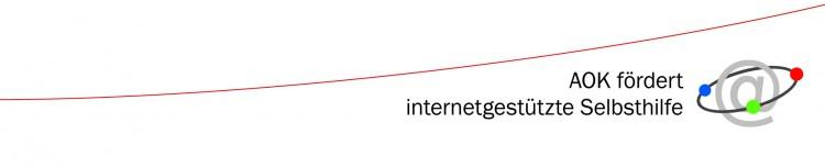 Logo: AOK unterstützt internetgestützte Selbsthilfe