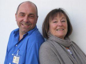 Mario Statdmüller und Monka Hage, die Gruppensprecher des Stoma-Treff Zollernalb
