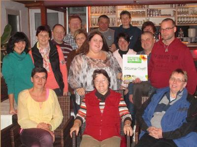 Abbildung: Mitglieder der Stoma-Selbsthilfegruppe Altmühlfranken