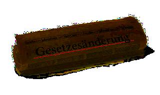 """Abbildung: Zeitungsrolle mit der Überschrift """"Gesetzesänderung"""""""